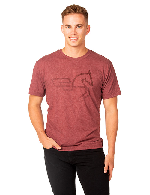 The Mens  Short Sleeve Tri-blend Tee