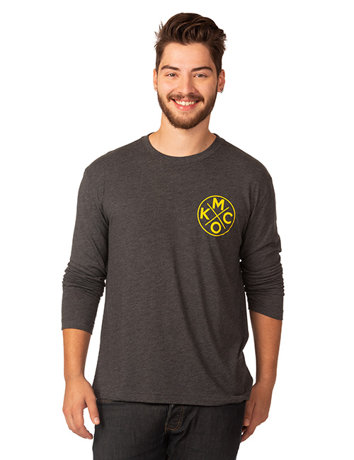 Mens Long Sleeve Tri-blend Tee