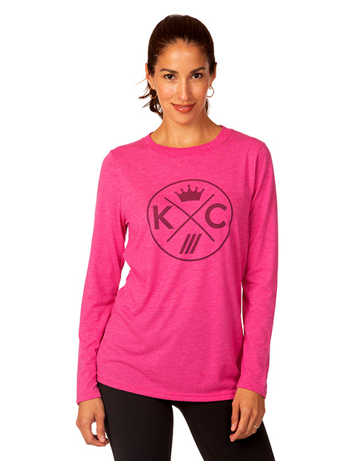 Ladies Long Sleeve Tri-blend Tee