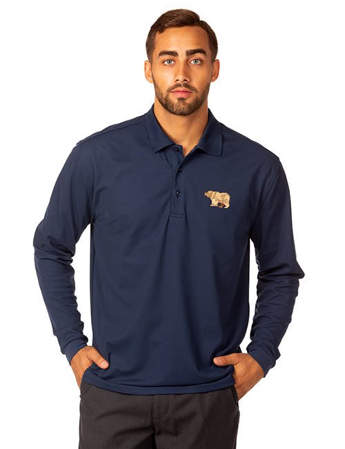 Technicore Mens Long Sleeve Endurance Pique Polo