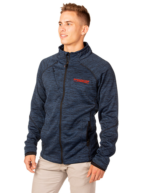 Mens Melange Bonded Fleece Jacket