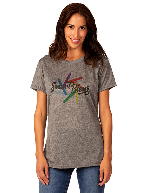 Ladies Short Sleeve Heather Duracolor Training Tee