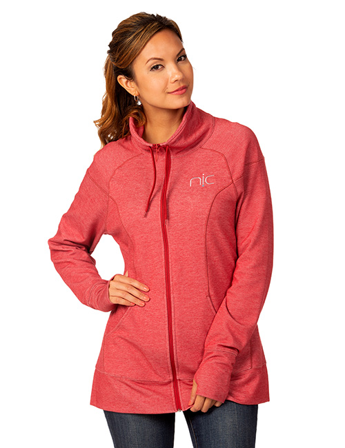 Tri-reg Ladies Full Zip Mid-layer Heather Fleece