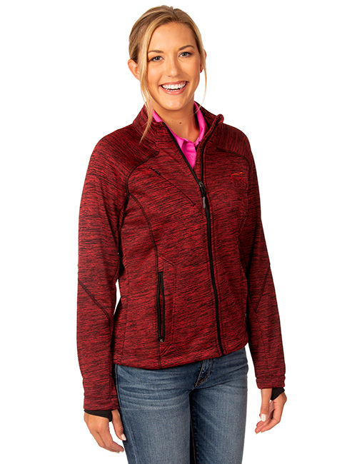 Ladies Melange Bonded Fleece Jacket
