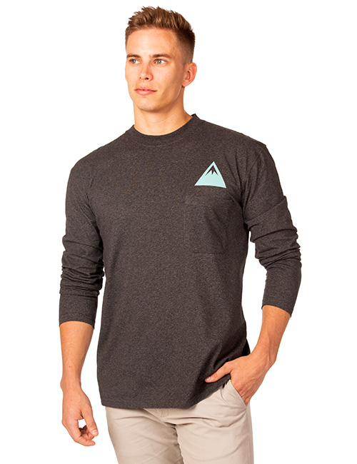 Mens Long Sleeve Dri-balance Plaited Moisture Transport Pocket Tee